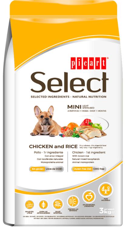 Picart Select - Pienso para perros light