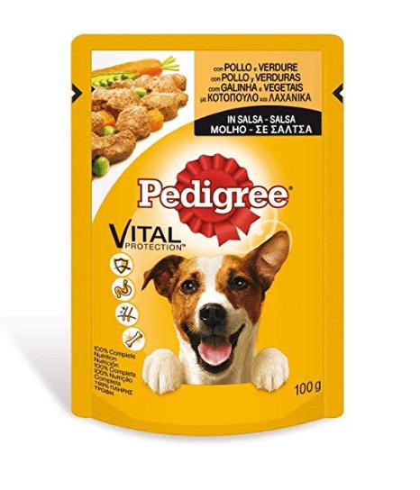 Pienso para perros Pedigree bolsita para perros adultos de pollo y verduras