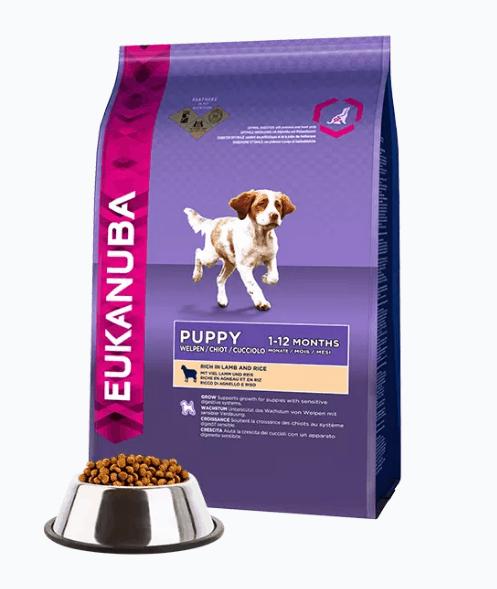 Pienso Eukanuba Cachorro con cordero y arroz