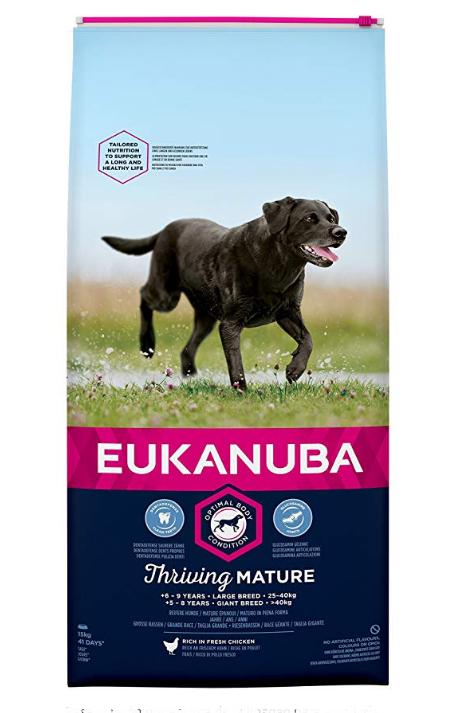 EUKANUBA - Pienso para perros de edad avanzada raza grande