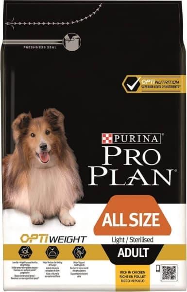 Pienso para perros esterilizados Purina ProPlan all size Light/Sterilised